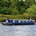 Zozagardo 10ft widebeam narrow boat heads down the Ship Canal