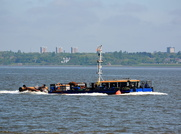 Dredger Borr off Eastham 15th May 2018