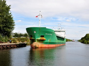Arklow Rival outward after discharging grain at Cargills
